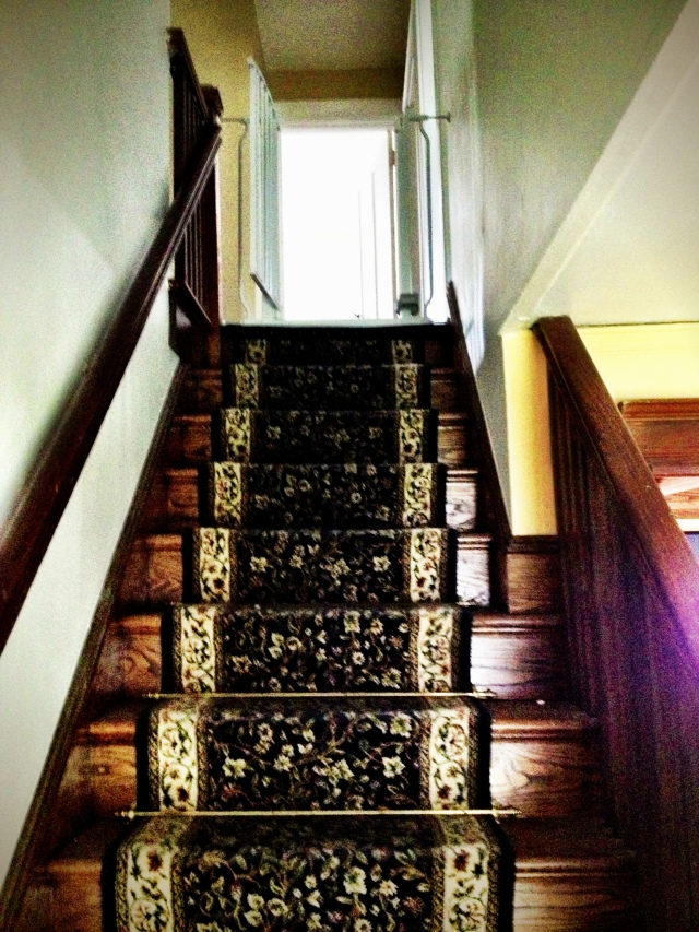 These stairs creak like nobody's business, but it's part of the character of the house (or so I keep telling myself).